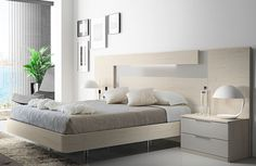 This evergreen white elegant bedroom space with subtle furniture pieces. Simple Bedroom Design, Bedroom Furniture Design, Small Room Bedroom, Master Bedroom Design, Bed Furniture, Home Bedroom, Bedroom Comforter Sets, Bed Frame Design, Bedroom Cupboard Designs