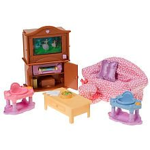 Fisher Price Loving Family Dollhouse Premium Decor Furniture Set   Family  Room