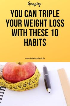 You Can Triple Your Weight Loss With These 10 Habits - Bulk Loss Diet Health And Fitness Expo, Health And Fitness Articles, Wellness Fitness, Health And Wellness, Fitness App, Good Health Tips, Natural Health Tips, Health And Beauty Tips, Healthy Detox