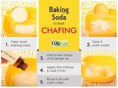 baking soda remedy for chafing skin