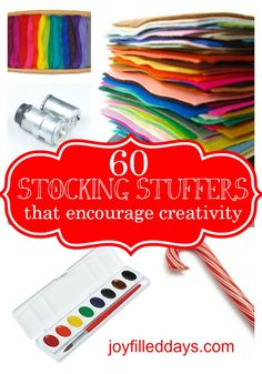 60 Stocking Stuffers that Encourage Creativity and Won't Break In One Day!!
