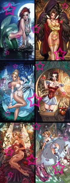 unique Disney Tattoo - Disney princesses as sexy vixens...