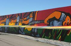 Mural del puerto - Necochea, Argentina