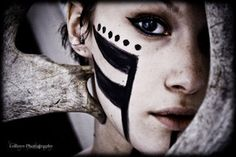 A silent voice by cococruch photographer IV Makeup Inspiration, Character Inspiration, Makeup Ideas, Tribal Face Paints, Tribal Makeup, Warrior Paint, Fx Makeup, Makeup Stuff, A Silent Voice