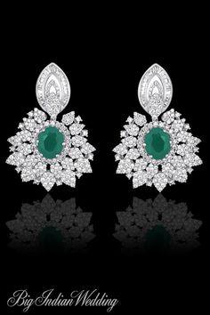 AS Motiwala elegant bridal earrings