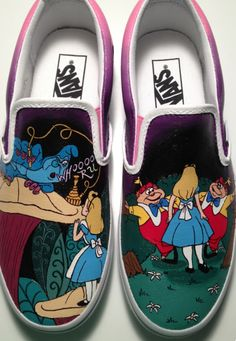 Alice in Wonderland Shoes by KissaThisArt on Etsy