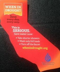 Californians Unite Against #Drought - San Diego County Water Authority - When In Drought Magnet