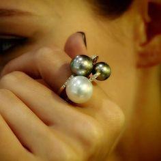 Plukka - Pearl & Diamond Ring