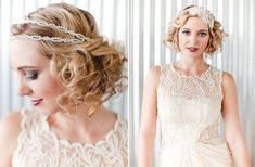 Vintage look bridal headpiece.