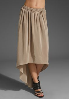 CUT25 Washed Crepe De Chine Hi-Lo Skirt in Dune at Revolve Clothing - Free Shipping!