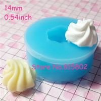 Free Shipping XYL038U 14mm Whipped Cream Mold Frosting Silicone Flexible Mold Miniature Sweets Cupcake Fimo Polymer Clay Decoden