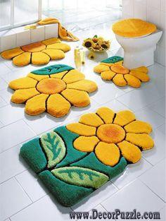 flowers bathroom rug sets, bath mats 2015, yellow and green bathroom rugs and carpets
