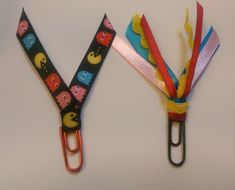 Pacman Video Game Ribbon Paperclip Set - Planner/Journal/Bookmark - Erin Condren, Kikki K, Happy Planner
