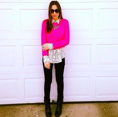 pretty in pink #layeredlook #statement #necklace #lotd