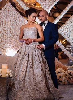 21074978801 Stunning Gowns Real Brides wore instead of Lehenga for Reception