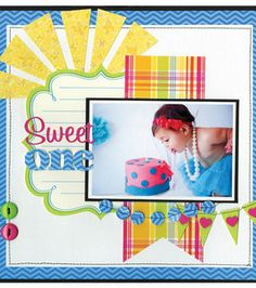 Number 1 Baby Scrapbook Page - Best new free paper projects and patterns for spring and summer