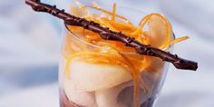 Verrines de poires au chocolat