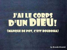 corps d'un dieu. #drôle de #citation. // www.drolementvotre.com