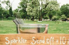 Sparklier Send Off Sign