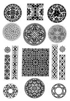 Арабы - арабские узоры и орнаменты. Живопись. Галереи картин и графики