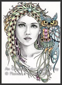 Jade and Ranger Fairy Tangles By Norma J. Burnell.