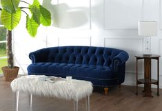 """A Modern Victorian Vintage Sofa, This Lush Velvet Sofa Measures 85""""W X 37""""D X 32""""H and Weighs 104 lbs - The Sofa Requires Assembly Upon Arrival"""