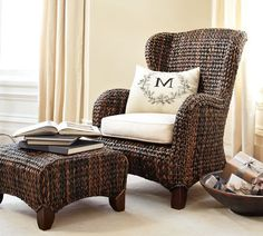 Seagrass Wingback Armchair | Pottery Barn
