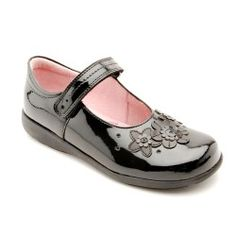 Fleur, Black Patent Girls Riptape School Shoes http://www.startriteshoes.com/school-shoes/