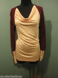 Betsey Jonhson NWT Evening Burgundy Rhinestone Rayon Knit Dress Shrug Top Size P $19 Originally $287! Free Shipping!