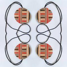 Foto #mirror #pendant #necklace  #blackandwhite #pencilcolors #wood #circle