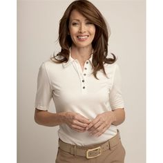 simply elegant cream and khaki ladies golf outfit #golf4her #lizziedriver