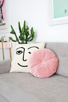 DIY Velvet Throw Pillow - 30 DIY Christmas Gifts Better Than Store-Bought Presents - Photos