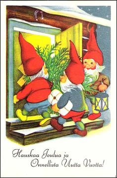Olavi Vikainen Swedish Christmas, Christmas 2017, Christmas Cards, Yule, Gnomes, Elves, Finland, Denmark, Norway