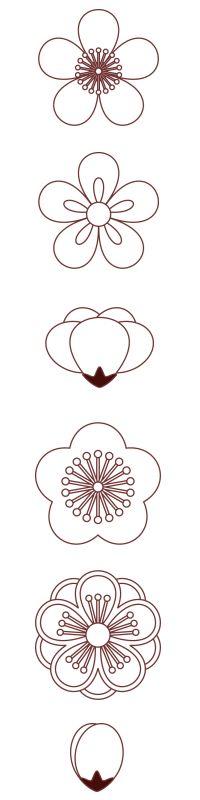 Japanese flower pattern