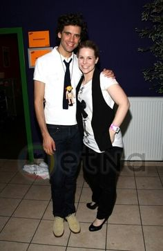 Mika and german actress Katharina Kuepper after his gig @ Huxleys, Berlin 03-24-2010