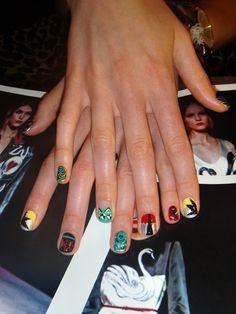 Miu Miu inspired nails by Fleury Waldau.