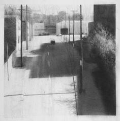 Quincy and Woodhill (charcoal on paper, 10 x 10 inches), Laurence Channing, 2015