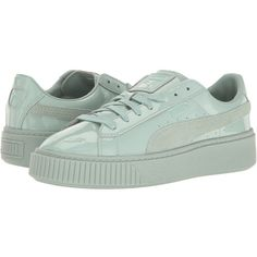 Puma Basket Platform Patent Blue Surf Blue Surf Womens Shoes