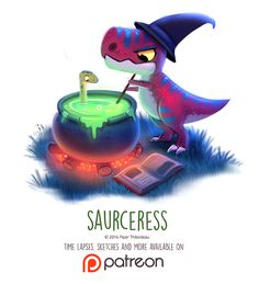 Day 1427. Saurceress by Cryptid-Creations Time-lapse, high-res and WIP sketches of my art available on Patreon (:Twitter • Facebook • Instagram • DeviantART