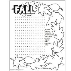 1000+ ideas about Fall Words on Pinterest | Word Search, Word ...