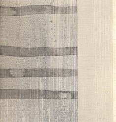 """Ann Symes """"Linear 2""""  Japanese woodblock print over sumi-e ink drawing"""