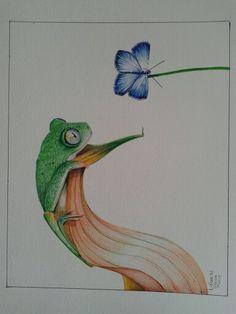 Perereca #Desenhando #Ballpointpens #Artlierbethsousa #Drawings #Artworks #ArtnaCanetas