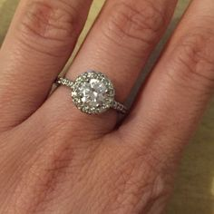 Crystal costume wedding ring Fun nice diamond engagement-looking costume ring. Bought it at a small NYC jewelry shop a few years ago. Ask all questions before purchasing or offering. Jewelry Rings