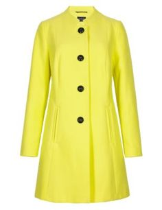 Beautiful yellow coat from Marks & Spencer. Autumn/Winter 2014