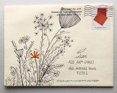 pushing the envelopes: From KathleenH Envelope Lettering, Envelope Art, Envelope Design, Hand Lettering, Lettering Styles, Lettering Tutorial, Mail Art Envelopes, Addressing Envelopes, Pen Pal Letters