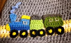 Crochet train applique