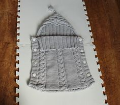 Baby sleep sack. Cute for baby gift if I ever make time for knitting again.