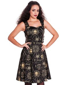 Spin Doctor Tabitha Black Magic Occult Witchcraft Symbol Gothic Steampunk Dress: Amazon.co.uk: Clothing
