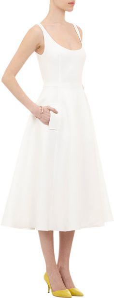Lanvin Neoprene Tea-Length Dress at Barneys.com