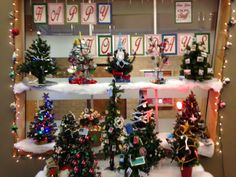 Christmas trees from every department @ OLPL